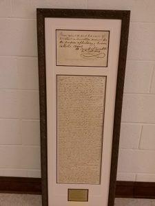 Framed parish charter (Feb15)