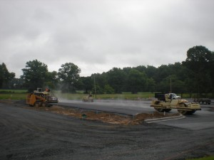 Paving in the rain, just paving in the rain...