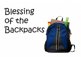, Backpack Blessing, St. Joseph-on-Carrollton Manor Catholic Church, St. Joseph-on-Carrollton Manor Catholic Church