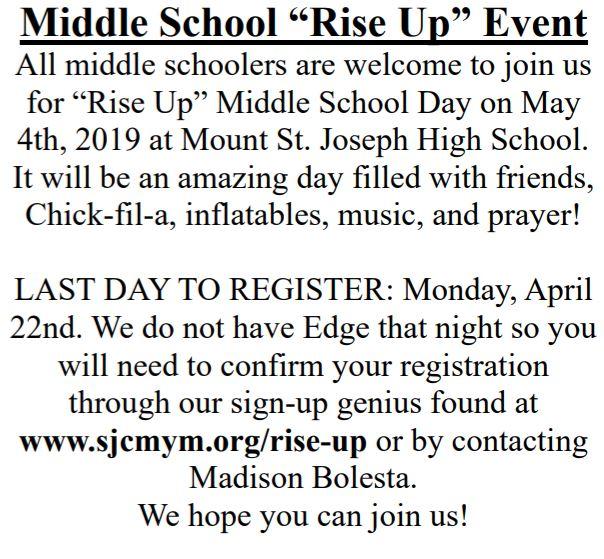 , Rise Up, St. Joseph-on-Carrollton Manor Catholic Church, St. Joseph-on-Carrollton Manor Catholic Church