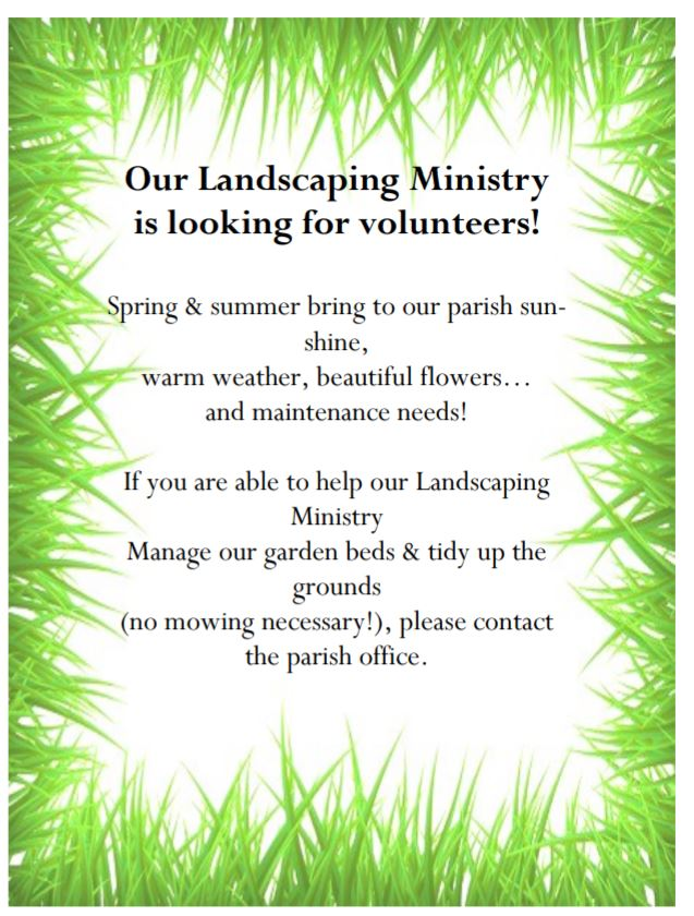 , Landscaping Ministry, St. Joseph-on-Carrollton Manor Catholic Church, St. Joseph-on-Carrollton Manor Catholic Church