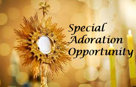 , Special Adoration Opportunity, St. Joseph-on-Carrollton Manor Catholic Church
