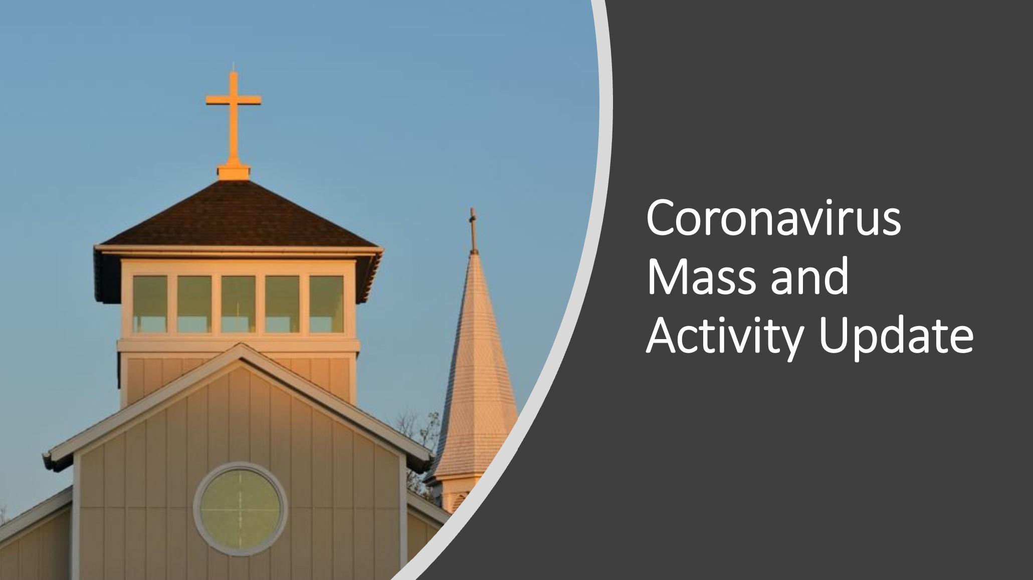 , Coronavirus Mass and Activity Update, St. Joseph-on-Carrollton Manor Catholic Church, St. Joseph-on-Carrollton Manor Catholic Church