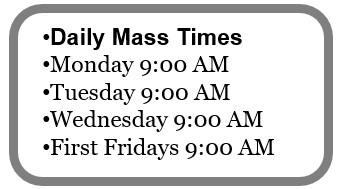 Daily Mass Times