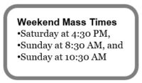 Weekend Mass Times